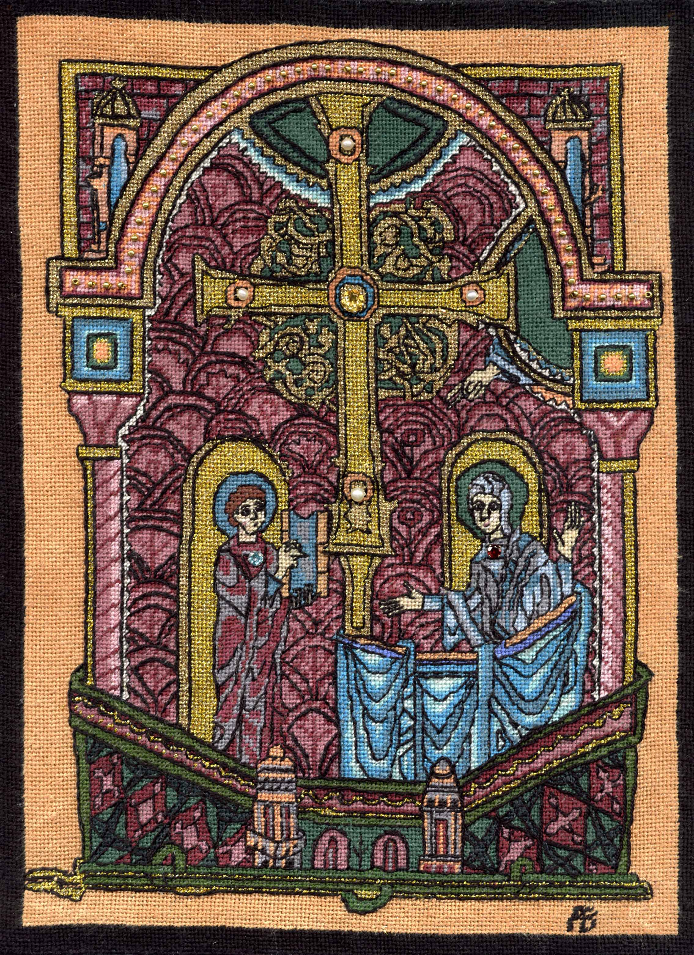 jerome-presents-bible-to-mary